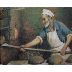 Jewish Baker, 1921 by Yehuda Pen - Jewish Art Oil Painting Gallery