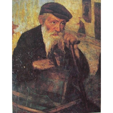 Jewish Glassworker, 1925 by Yehuda Pen - Jewish Art Oil Painting Gallery