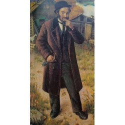 Jewish Matchmaker, 1926 by Yehuda Pen - Jewish Art Oil Painting Gallery