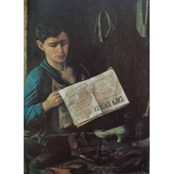 Jewish Shoemaker, 1925 by Yehuda Pen - Jewish Art Oil Painting Gallery