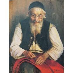 Jewish Tailor 1910 by Yehuda Pen - Jewish Art Oil Painting Gallery