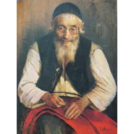 Jewish Tailor 1910 by Yehuda Pen - Jewish Art Oil Painting Gallery