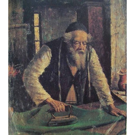 Jewish Tailor, 1926 by Yehuda Pen - Jewish Art Oil Painting Gallery