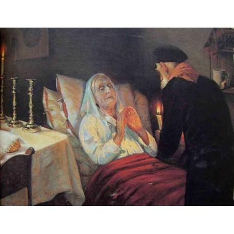 Last Saturday, 1921 by Yehuda Pen - Jewish Art Oil Painting Gallery