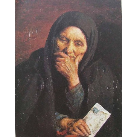 Letter From America by Yehuda Pen - Jewish Art Oil Painting Gallery