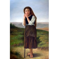 The Young Shepherdess by William Adolphe Bouguereau - Art gallery oil painting reproductions