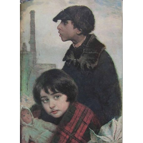 Refugee, 1914 by Yehuda Pen - Jewish Art Oil Painting Gallery