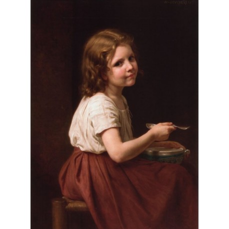 Soup 1865 by William Adolphe Bouguereau - Art gallery oil painting reproductions