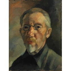 Self Portrait, 1905 by Yehuda Pen - Jewish Art Oil Painting Gallery