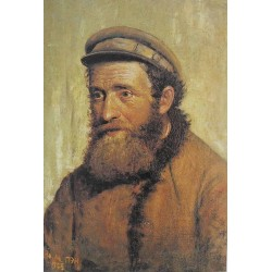 The Jewish Kolhoznik, 1925 by Yehuda Pen - Jewish Art Oil Painting Gallery