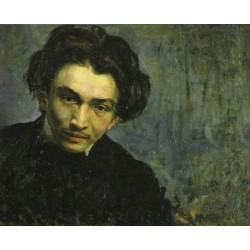 Bildnis Eines by Samuel Hirszenberg- Jewish Art Oil Painting Gallery