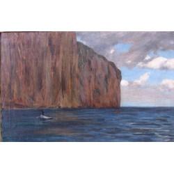 Capri by Samuel Hirszenberg- Jewish Art Oil Painting Gallery