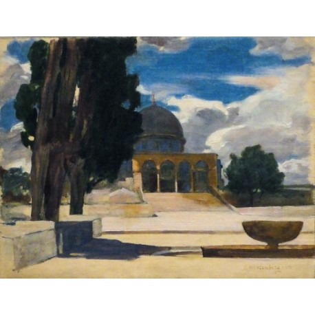 Dome of the Rock, 1908 by Samuel Hirszenberg- Jewish Art Oil Painting Gallery