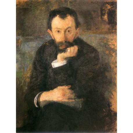Olga Boznanska,1905 by Samuel Hirszenberg- Jewish Art Oil Painting Gallery