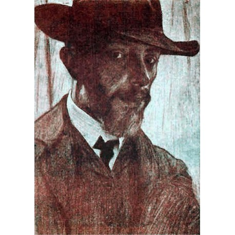 Self Portrait by Samuel Hirszenberg- Jewish Art Oil Painting Gallery