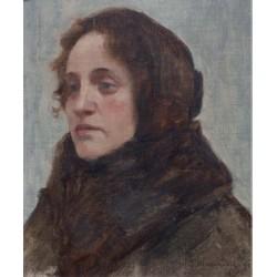 The Portrait of Dinah Hirszenberg, 1903 by Samuel Hirszenberg- Jewish Art