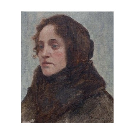 The Portrait of Dinah Hirszenberg, 1903 by Samuel Hirszenberg- Jewish Art