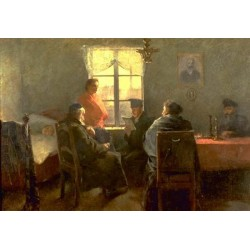 The Shabbat Rest by Samuel Hirszenberg- Jewish Art Oil Painting Gallery