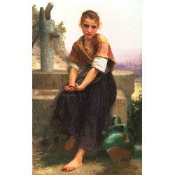 The Broken Pitcher 1891 by William Adolphe Bouguereau - Art gallery oil painting reproductions
