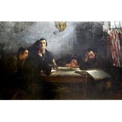 Talmudist by Samuel Hirszenberg- Jewish Art Oil Painting Gallery
