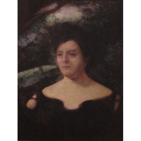 Wife of the Artist Glitzenstein by Samuel Hirszenberg- Jewish Art Oil Painting Gallery
