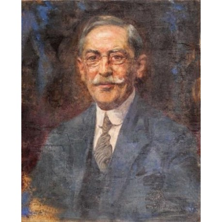 Portrait of a Man by Leopold Pilichowski - Jewish Art Oil Painting Gallery