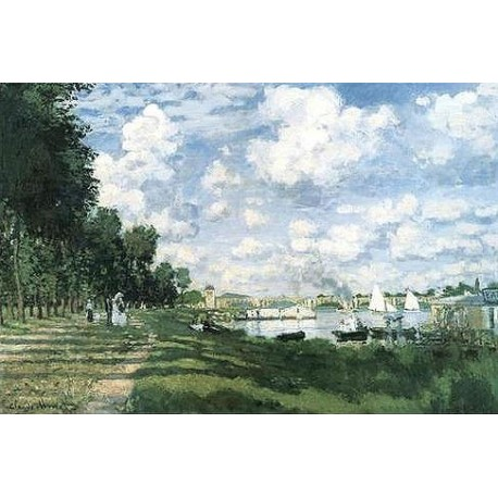 Bassin d' Argenteuil by Claude Oscar Monet - Art gallery oil painting reproductions