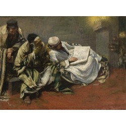 Yom Kippur by Leopold Pilichowski - Jewish Art Oil Painting Gallery