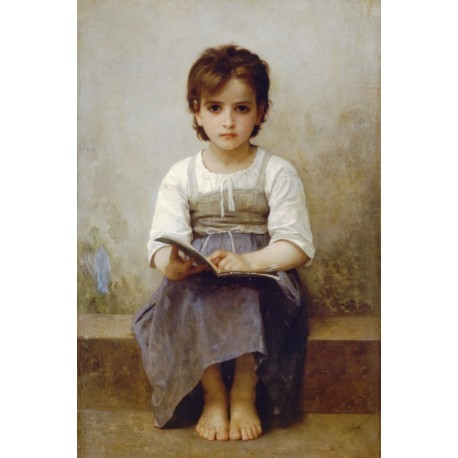 The Difficult Lesson 1884 by William Adolphe Bouguereau - Art gallery oil painting reproductions