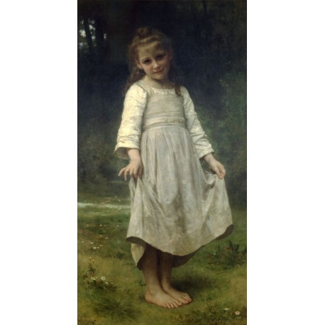The Curtsey 1898 by William Adolphe Bouguereau -Art gallery oil painting reproductions
