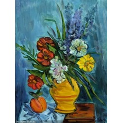 Blumenstillleben by Rudolf Levy - Jewish Art Oil Painting Gallery