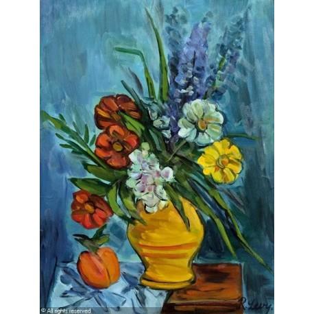 Blumenstillleben by Rudolf Levy - Jewish Art Oil Painting Gallery