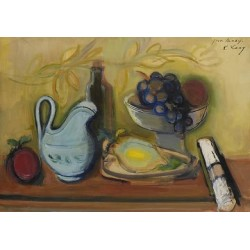 Still Life with Fruit by Rudolf Levy - Jewish Art Oil Painting Gallery