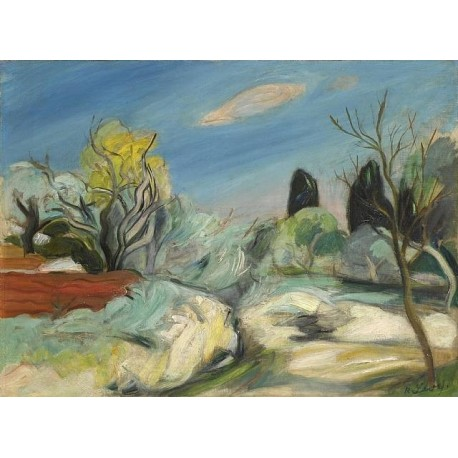 Sudfranzosische Landschaft by Rudolf Levy - Jewish Art Oil Painting Gallery