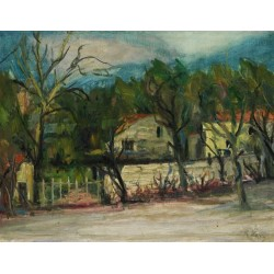 Sudliche Landscape by Rudolf Levy - Jewish Art Oil Painting Gallery