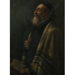 Portrait of a Rabbi by Maurycy Gottlieb- Jewish Art Oil Painting Gallery