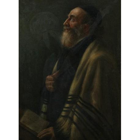 Portrait of a Rabbi by Maurycy Gottlieb- Jewish Art Oil Painting Gallery