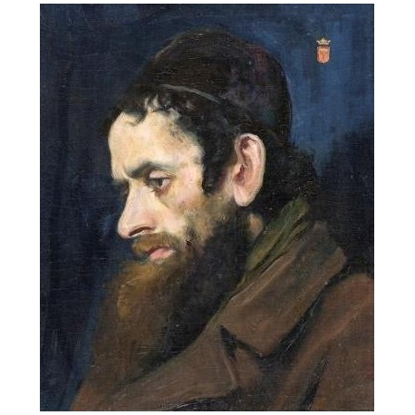 Portrait of a Jew by Maurycy Gottlieb- Jewish Art Oil Painting Gallery