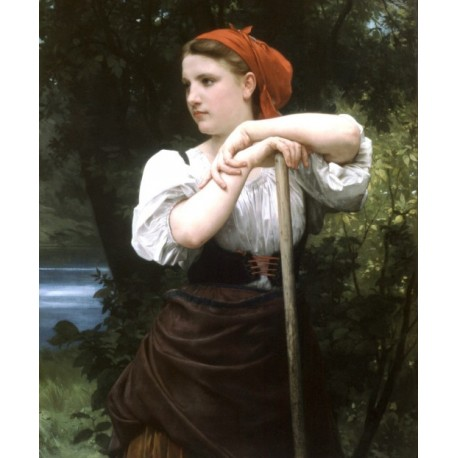 The Haymaker 1869 by William Adolphe Bouguereau - Art gallery oil painting reproductions