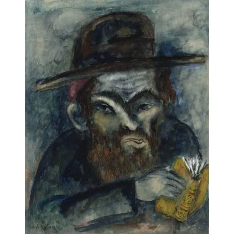 Orthodox Jew by Issachar Ber Ryback Jewish Art Oil Painting Gallery