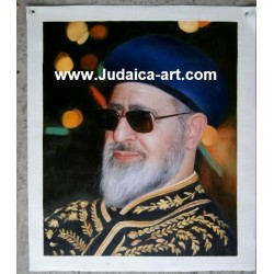 Rav Ovadia Yosef | Jewish Art Oil Painting Gallery