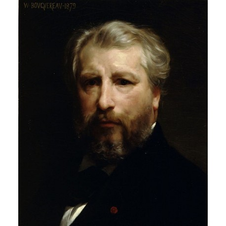Artist Portrait 1879 by William Adolphe Bouguereau - Art gallery oil painting reproductions