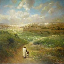 Jerusalem | Jewish Art Oil Painting