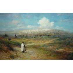 Jerusalem II | Jewish Art Oil Painting