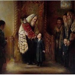 Kissing the Torah   Jewish Art Oil Painting