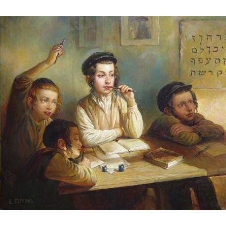 Elena Flerova - Cheder | Jewish Art Oil Painting Gallery