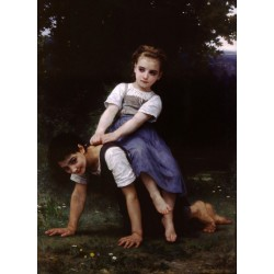 The Horseback Ride 1884 by William Adolphe Bouguereau - Art gallery oil painting reproductions