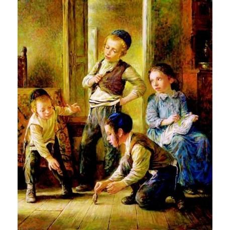 Elena flerova dreidel i jewish art oil painting gallery for Israeli artists oil paintings