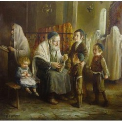 Elena Flerova - Candy for the children | Jewish Art Oil Painting Gallery
