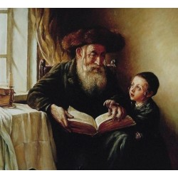 Elena Flerova - First Lesson | Jewish Art Oil Painting Gallery